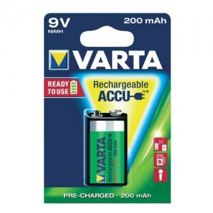 9V oplaadbare batterij voor detector
